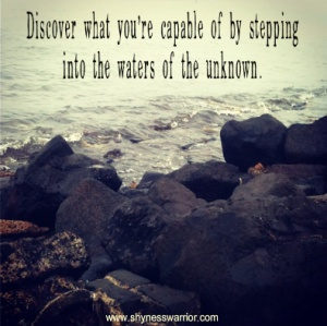 step into the unknown